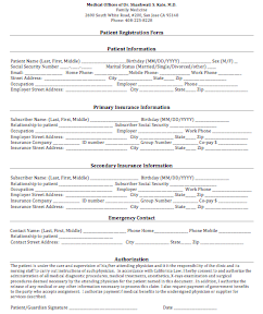 Medical and Patient Forms | Evergreen Doctor - Medical ... on medical assistant job application, office assistant job application, restaurant job application, medical center job application,